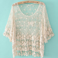 Crochet hollow shirt