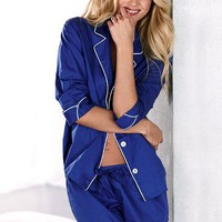 Cotton Mayfair Boxer Pajama - Victoria&#x27;s Secret