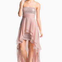 Hailey Logan Chiffon Overlay Sequin Dress (Juniors) (Online Exclusive) | Nordstrom
