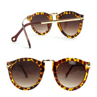 SakuraShop  Leopard Print Retro Summer Beach Sunglasses