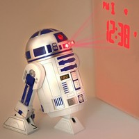 Star Wars Merchandise - R2D2 LED Alarm Clock (Size: 5&quot; x 6&quot;)