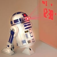 "Star Wars Merchandise - R2D2 LED Alarm Clock (Size: 5"" x 6"")"