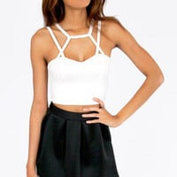 Caged Caprica Crop Top $26