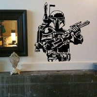 Boba Fett Star Wars Large Vinyl Wall Decal Sticker