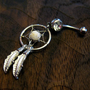 Dream Catcher Belly Button Ring -- Crystal