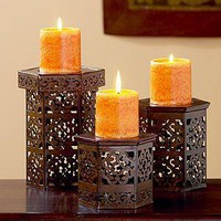 Naveen Pillar Holders | Candleholders | World Market