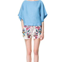 FLOWING PRINTED SHORTS - Shorts - Woman - ZARA United States