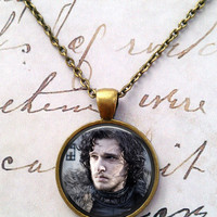 Game of Thrones Necklace, Stark, Winter is Coming T514
