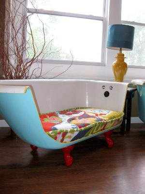 Cast Iron Bathtub Couch by ruffhouseart on Etsy