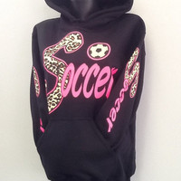 Printed Hoodie- SOCCER