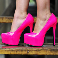 Out Of This Galaxy Heels: Neon Pink | Hope&#x27;s