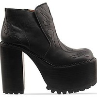 Jeffrey Campbell Prowl in Black Black at Solestruck.com