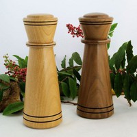 Salt and Pepper Mill Set in Walnut and Alder Woods