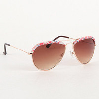 With Love From CA Printed Top Aviator Sunglasses at PacSun.com