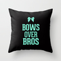 Bows over Bros Cheer Tiffany Throw Pillow by RexLambo