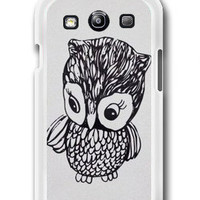 Personalized Little Owl Samsung Galaxy S3 Case Samsung Galaxy SIII Case
