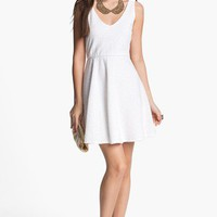 dee elle Textured Skater Dress (Juniors) | Nordstrom