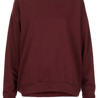 Curve Hem Sweat - Jersey Tops - Clothing - Topshop USA