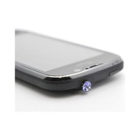 Buy Universal 3.5mm Headphone Jack Stopple Charm - Lavender Gem Free Shipping AccessoryGeeks