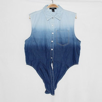 Vest denim shirt