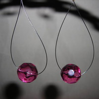 Pink Teardrop Earrings from LaRocca Unique Creations