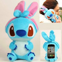 Amazon.com: Authentic iPlush Plush Toy Cell Phone Case for Apple iPhone 4/4S (Blue Stitch): Cell Phones & Accessories