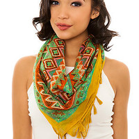 MKL Accessories Scarf Mural in Yellow