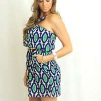 Tory Strapless Geometric Print Dress -  $42.00 | Daily Chic Dresses | International Shipping