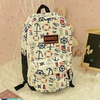 blue fashion Anchor Backpack Bag