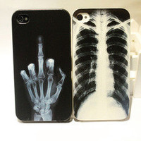 waloli shopping mall  Cool X-ray Skull Bone Hard Cover Case For Iphone 4/4s