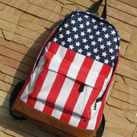 waloli shopping mall  Cool the Stars and the Stripes Backpack Bag