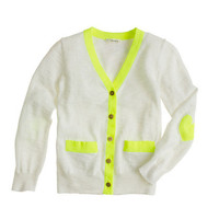 Girls' heart-patch cardigan