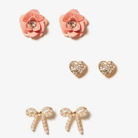 Set of 3 Ladylike Earrings | FOREVER 21 - 1000040149