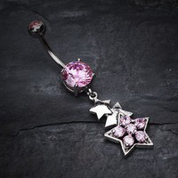 Star of Stars Belly Button Ring