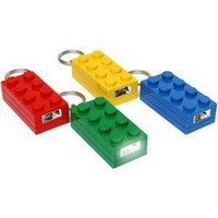 ThinkGeek :: LEGO Brick Lighted Keychain