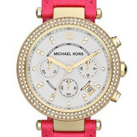 Michael Kors &#x27;Parker&#x27; Chronograph Leather Watch, 39mm | Nordstrom