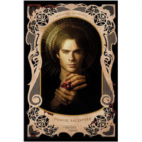 Vampire Diaries Damon Holy Card Poster |