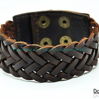 Cuff  Leather Bracelet Adjustable Brown Leather Bracelet jewelry bracelet bangle bracelet  2259S