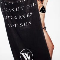 WILDFOX SWIM TOWEL at Wildfox Couture in  PINK & WHITE, - BLACK & WHITE
