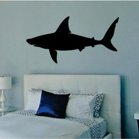 Shark Decal Vinyl Art Sticker Wall animal sea beach ocean