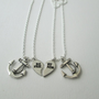 2 Silver Anchor, Best Friend Jewelry