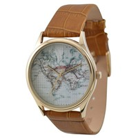 Vintage Map Watch (World)