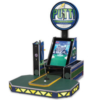 The Live Putting Miniature Golf Arcade Game - Hammacher Schlemmer
