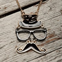 Master of Disguise Mustache Necklace - Black from Jewelry & Accessories at Lucky 21 Lucky 21