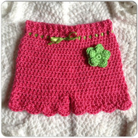 Baby Girl Infant Shorts with Flower Clothing MORE COLORS, Sizes nb-12 months (3-6 mo. shorts shown) Spring Fashion, Newborn Clothes