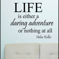 Vinyl Wall Lettering Quotes Life is a Daring by WallsThatTalk