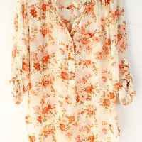 Chrysanthemum Chiffon Shirt | Emma Stine Jewelry Necklaces