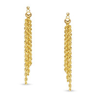 Rope Tassel Drop Earrings in 10K Gold - View All Earrings - Zales
