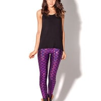 Mermaid Purple Leggings - LIMITED