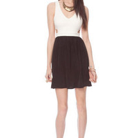 Side Cutout Dress in Black and White :: tobi
